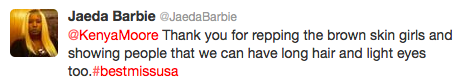 jaeda barbie tweet