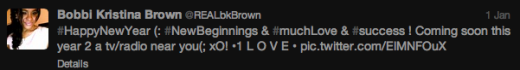 Bobbi Kris NY Tweet
