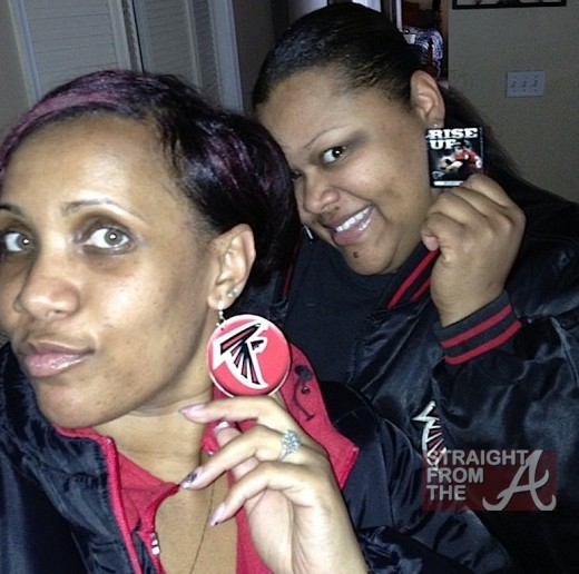 Falcons Fans Earrings