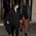 Kanye Kim Kardashian in Paris 010813-5