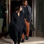 Kanye Kim Kardashian in Paris 010813-7
