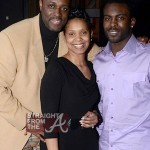 Newlyweds Charlie Mack Alston and Tasha Alston with Michael Vick