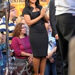 Toni Braxton on 'Extra' with Mario Lopez -9