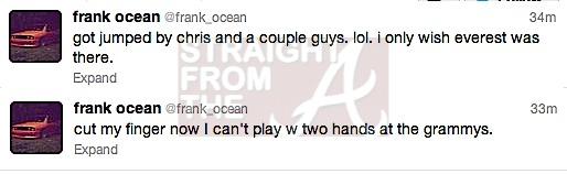 frank ocean tweet