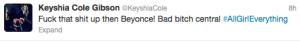 Keyshia Cole Tweet 1