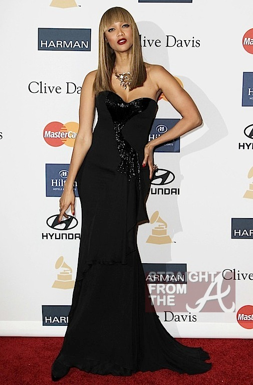 Tyra Banks Clive Davis Grammy Party 4