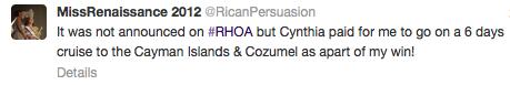 miss rennaisance tweet