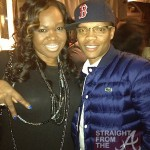 Michelle ATLien Brown and Ron DeVoe (New Edition)