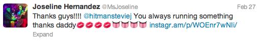 Joseline Tweet