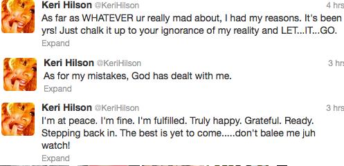 Keri Hilson Tweet5