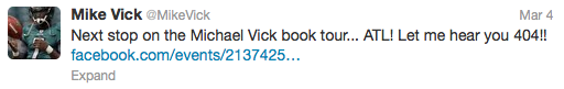 vick tweet