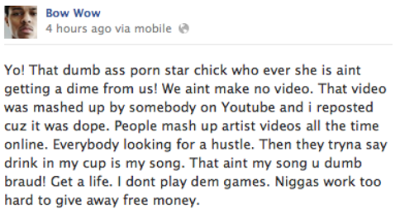 Bow Wow Facebook