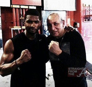 Usher and Boxing Coach Hector Roca Gleasons