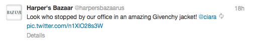 harpers bizaar tweet