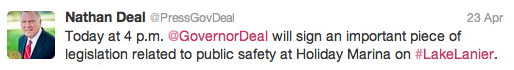 Nathan Deal Tweet