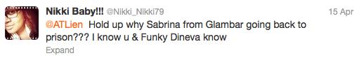Sabrina tweet