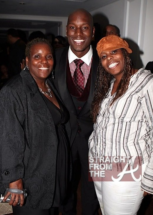 Tyrese Gibson with Mom and Sister