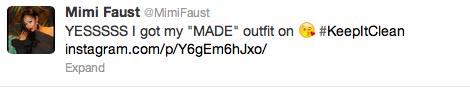 Mimi Faust Tweet