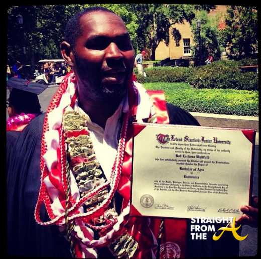 Bob Whitfield Graduates Stanford 061613-2