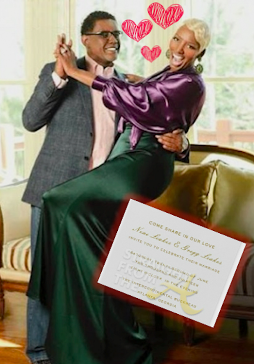 Nene Greg Leakes Wedding Invitation 2013