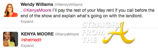 Wendy Williams Kenya Moore Tweets