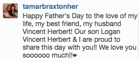 Tamar father's day message
