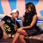 "Angela Simmons And Flloyd Mayweather Visit BET's ""106 & Park"""