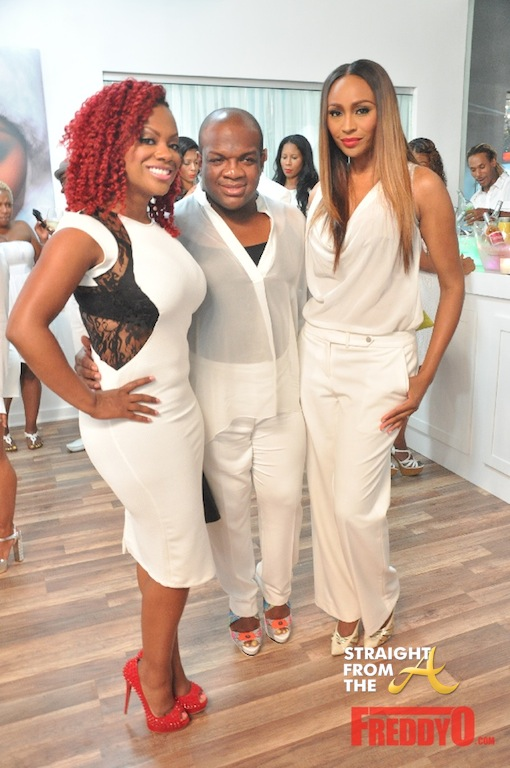 Kandi Derek J Cynthia RHOA White Party 2