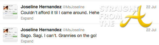 joseline tweets to mimi