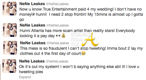nene wedding suit tweets