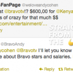 In the Tweets: Bravo Andy Shoots Down Kenya Moore $600,000 Salary Reports…