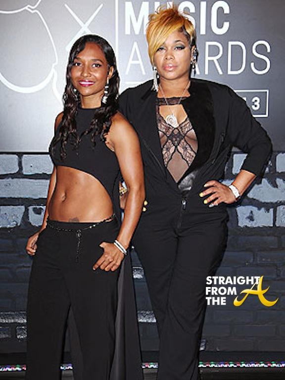 Chilli and T-Boz (TLC) at 2013 MTV VMAs