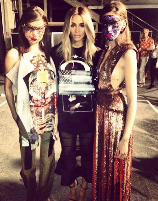 Ciara Backstage at Givenchy 2013 Paris Fashion Week