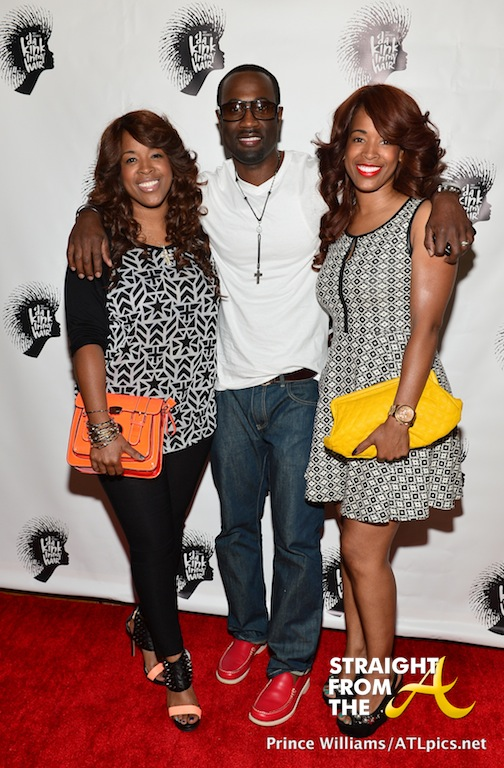 Q Parker (112) with wife Sharlinda and her twin Sabrina Rowe