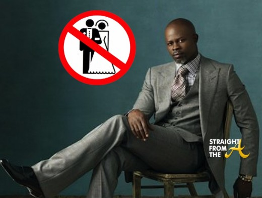 djimon-hounsou no marriage
