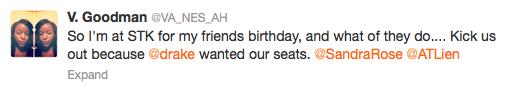 Drake STK Tweet