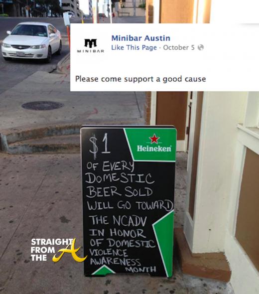 Mini Bar Austin New Sign Domestic Violence StraightFromTheA
