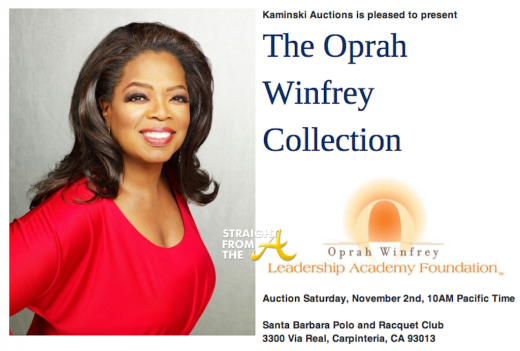 Oprah Winfrey Collection Auction StraightFromTheA