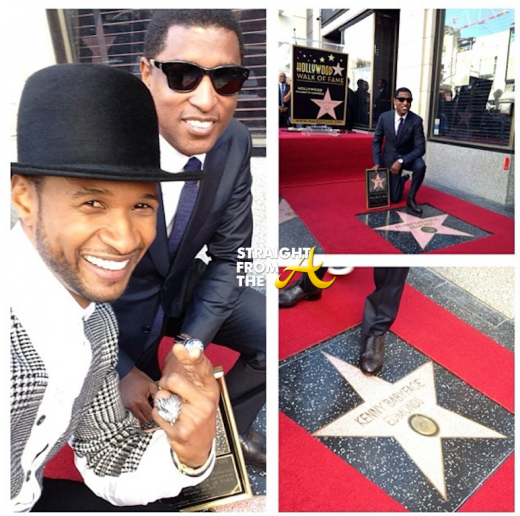 Usher Babyface Hollywood Star 2013