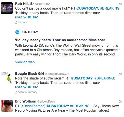 USA Today Race Themed Backlash 1