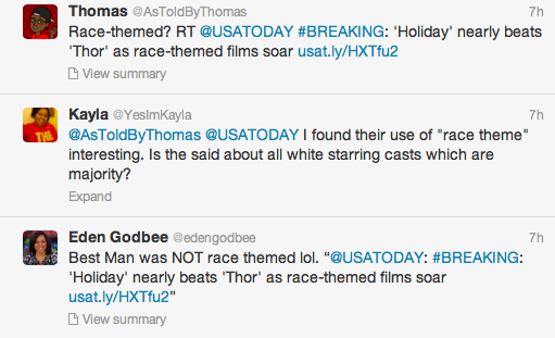 USA Today Race Themed Backlash 2