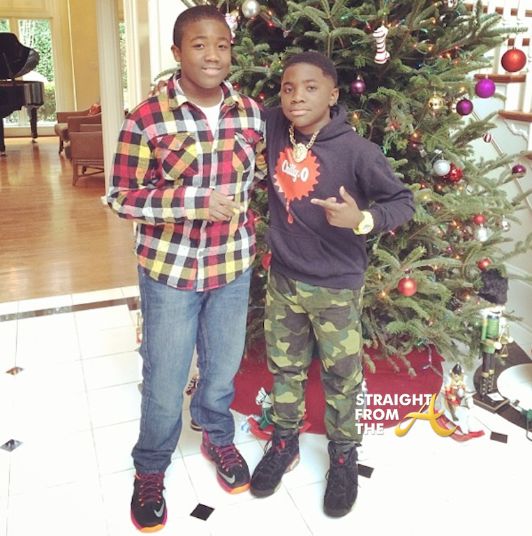 Bow Wow Shai S Daddy Daughter Dance Goes Viral Video: Big Boi Sons Christmas 2013