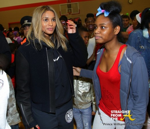 Ciara and Fan StraightFromTheA 1
