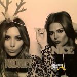 Kim and Chloe Kardashian Christmas 2013