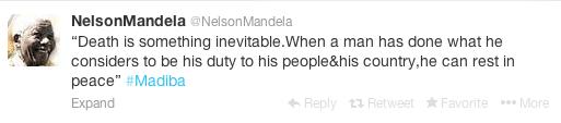 Nelson Mandela Tweet