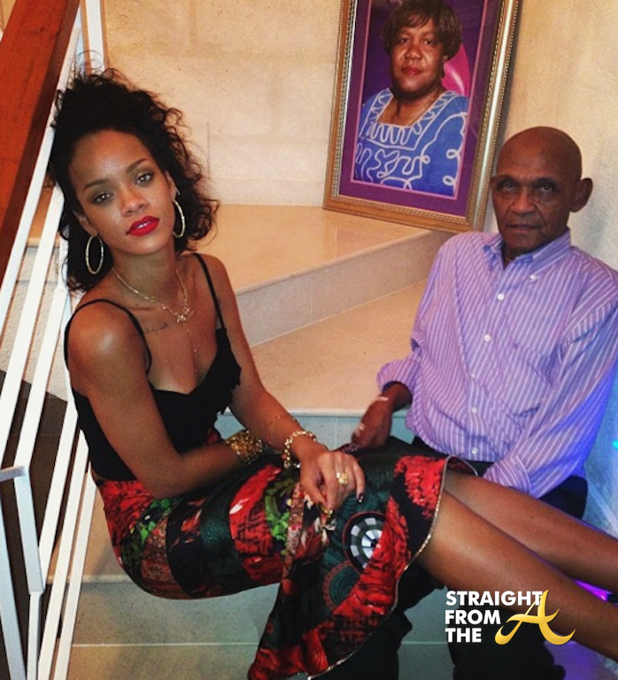 Rihanna And Her Adopted Daughter Rihanna Christmas 2013...