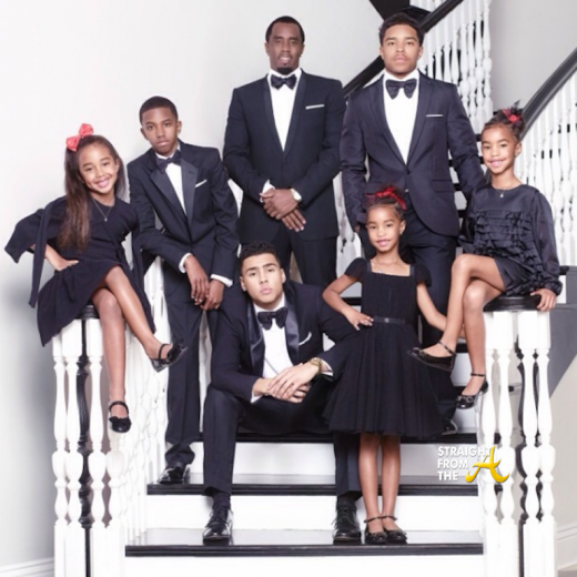 Sean Diddy Combs and Family Christmas 2013 StraightFromTheA