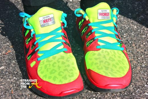 Tameka Raymodn Miles 4 Kile Custom Nikes StraightFromTheA 2013