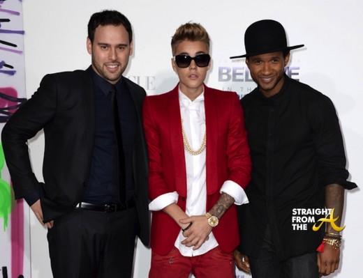 Usher Justin Bieber Premiere 2013-1
