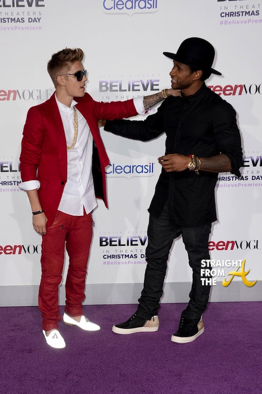 Usher Justin Bieber Premiere 2013-9